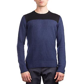 Cachemir cuello redondo suéter azul Prada hombre