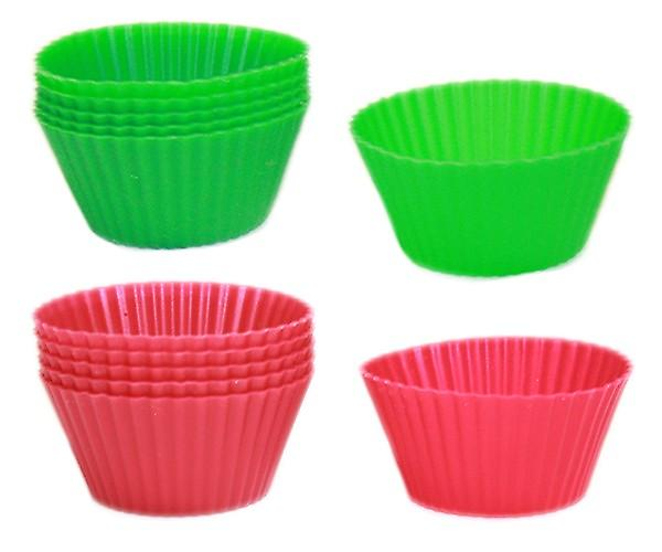 Silicon Cupcake Case 12/Pack Rouge / Vert