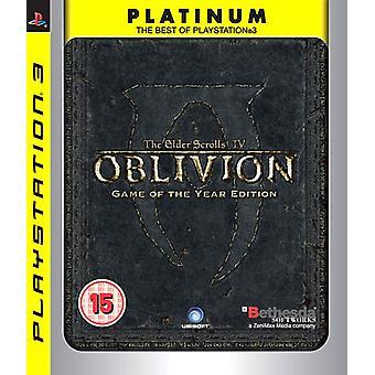 The Elder Scrolls IV Oblivion - Game van het jaar - platina (PS3)