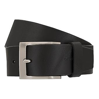 OTTO KERN belts men's belts leather belt black 7019