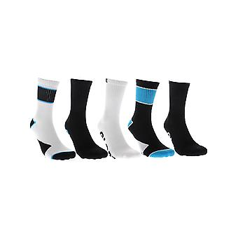 Globe Black Destroyer Crew Pack of 5 Socks