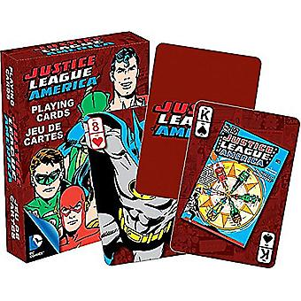 Dc Comics Justice League Of America Retro Set Of Playing Cards - 52301