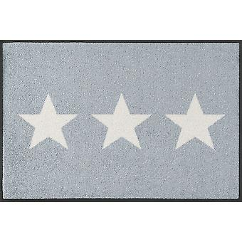 lavar + secar mat estrellas piso lavable gris alfombra