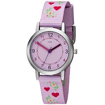 JOBO children wrist watch heart pink quartz kids girls watch