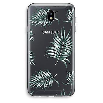 Samsung Galaxy J7 (2017) Transparent Case (Soft) - Simple leaves