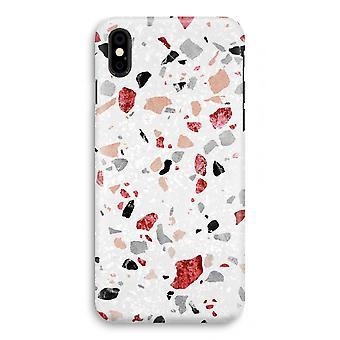 iPhone X Full Print Case (Glossy) - Terrazzo N°12