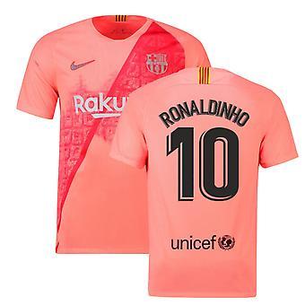 2018-2019 برشلونة الثالث نايكي لكرة القدم قميص (رونالدينيو 10)