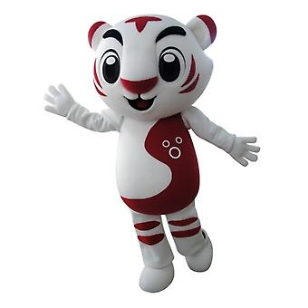 mascot Tiger white and red, very successful SPOTSOUND