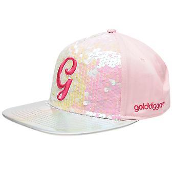 Golddigga Kids Girls Snapback Junior Flat Peak Cap Ventilation Panel Design