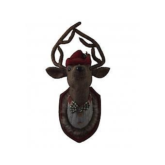 Gisela Graham Tweed Stag Head Plaque