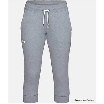 Under Armour crop pants slim leg fleece women's 1320610
