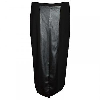Frank Lyman Faux Leather Long Straigth Skirt