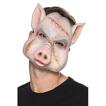 Dämonische Schwein Horror Maske Karneval Halloween Accessoire Evil Pig Killer Mask