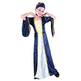Königliche Prinzessin blau (große 9-12 Jahre)