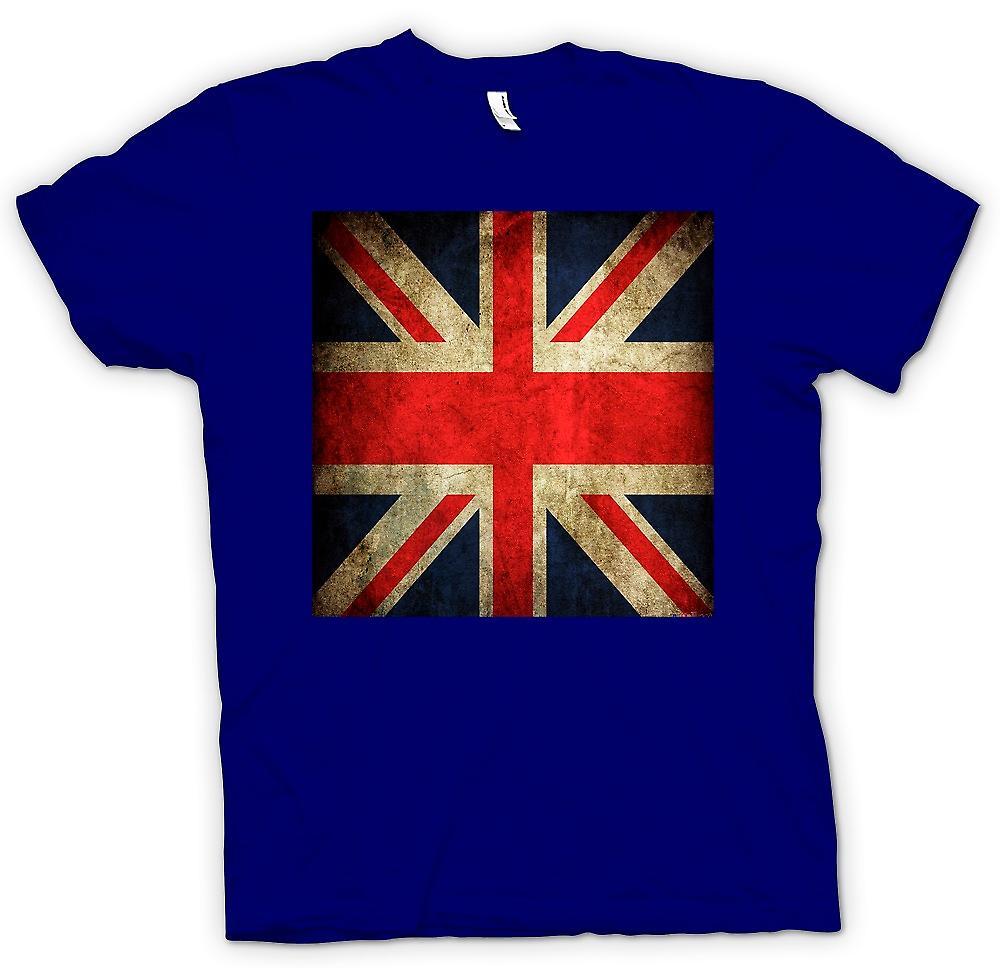 Hommes T-shirt - Grand drapeau grunge Britiain