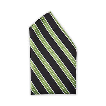 Handkerchief by Fabio Farini striped in black green white