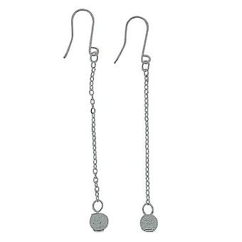 The Olivia Collection Sterling Silver Frosted Ball Drop Earrings