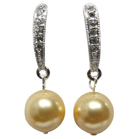 Modern Styling Earrings Yellow Pearl Gifts For Holiday