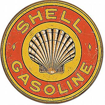 Shell Gasoline 1920s Logo Round Metal Sign     (de)
