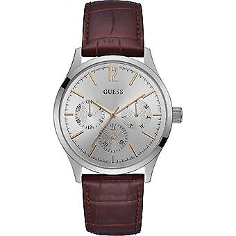 Guess W1041G1 watch - shows date display leather crocodile man