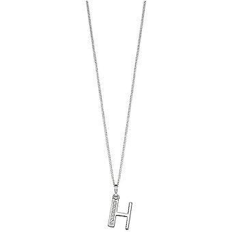 Beginnings Art Deco Initial H Pendant - Silver
