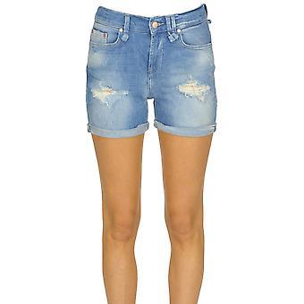 Brian Dales Light Blue Cotton Shorts