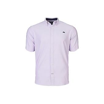 Short Sleeve Signature Oxford Shirt - Purple