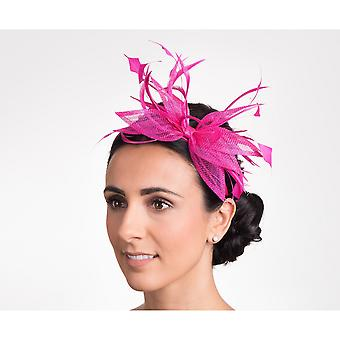 Hawkins Collection Womens/Ladies Open Bow And Thin Feather Detail Fascinator