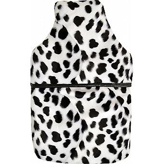 Plush Fur 2L Padded Cover Hot Water Bottle: Dalmation