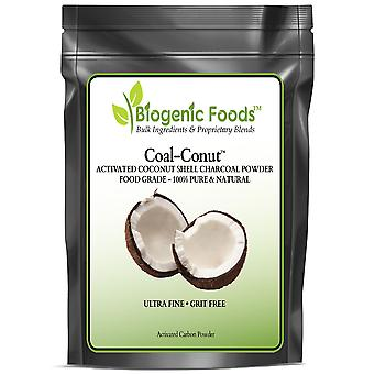 Coal-Conut (TM) - Activated Coconut Shell Charcoal Fine Husk Food Grade Powder (Ultra-Fine) - Organic Use Approved