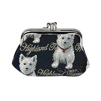 Westie coin purse by signare tapestry / frmp-wes