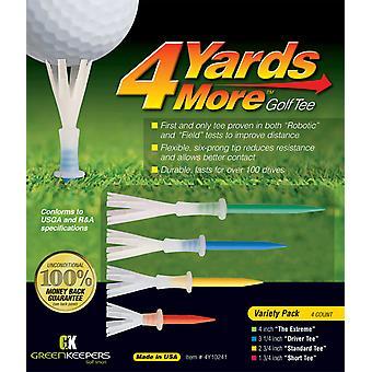 4 werven meer golf tees gemengd lengte Pack