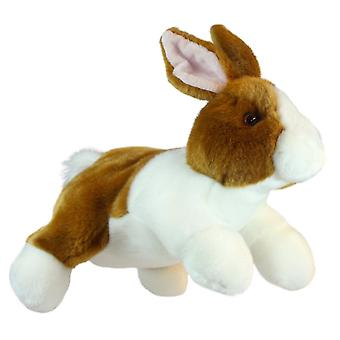 Hand Puppet - Full-Bodied Animal - Rabbit (Brown & White) Soft Doll PC001811