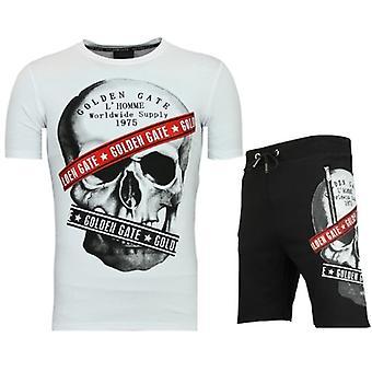 Shorts Tracksuit-Men's Joggingpak buy-F567-White