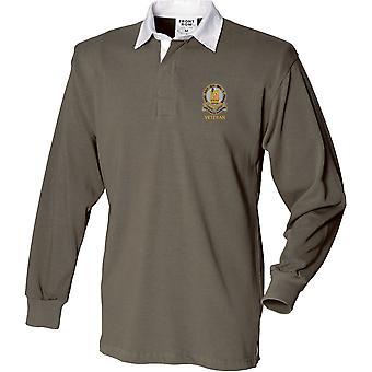 14. konger Hussars veteran-licenseret britisk hær broderet langærmet rugby shirt