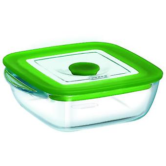 Pyrex Square Container With Cover 14X12X4 Plus 4In1