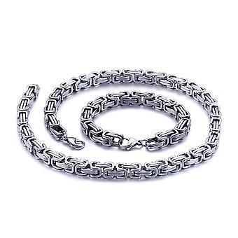 5mm Royal Chain Bracelet mannen ketting mannen Chain ketting, 70cm zilver roestvrijstalen kettingen