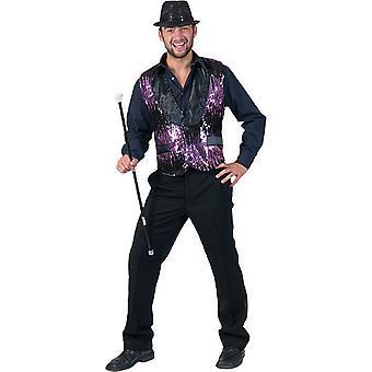 Show Sequin Sequin Sequin Men's Costume Charleston Circus Director Presenter Men's Vest
