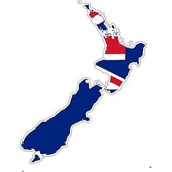 Autocollant Sticker Adhesif Voiture Vinyle Drapeau Carte Nouvelle Zelande
