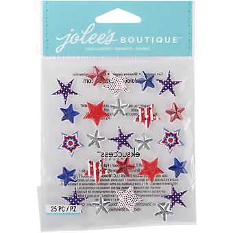 Jolee's Boutique Dimensional Stickers-Patriotic Stars E5021736