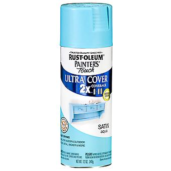 Painter's Touch Ultra Cover Satin Aerosol Paint 12 Ounces Aqua Ptucs249 085