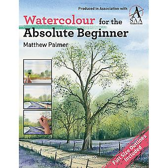 Search Press Books Watercolor For The Absolute Beginner Sp 88254