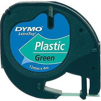 Labelling tape DYMO Tape colour: Green Font colour:Black 12 mm 4 m