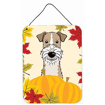 Wire Haired Fox Terrier Thanksgiving Wall or Door Hanging Prints BB2053DS1216