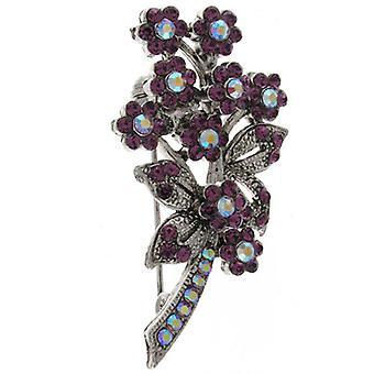 Brooches Store Swarovski Amethyst Purple Crystal Bouquet Brooch