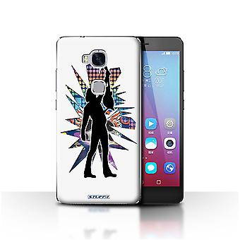STUFF4 Case/Cover for Huawei Honor 5X/GR5/Reach White/Rock Star Pose