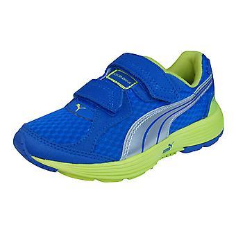 Puma afstammeling V Kids Running Trainers / schoenen - lichtblauw
