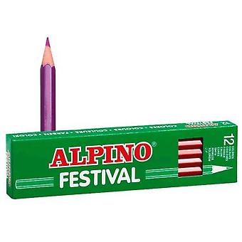 Alpino Box 12 Violet Festival (Toys , School Zone , Drawing And Color)