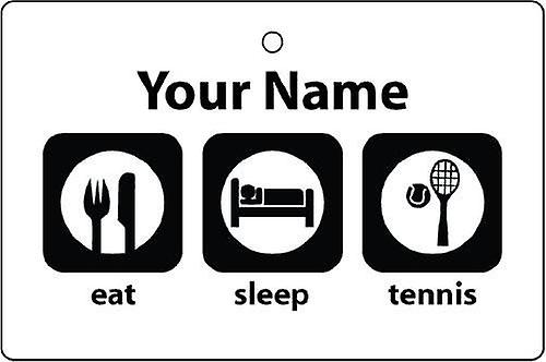 Personalised Eat Sleep Tennis Car Air Freshener