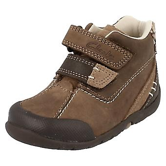 Boys Clarks First Walking Ankle Boots Softly Hi